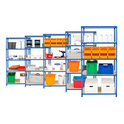 5 Bays of Rapid 2 - 5 Shelves (1830h x 915w)