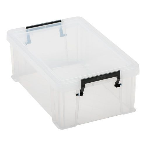 Clear 10 Litre Allstore Box - Grey Handles