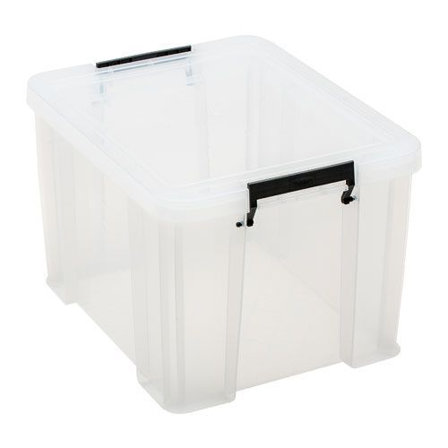 Clear 36 Litre Allstore Box - Grey Handles