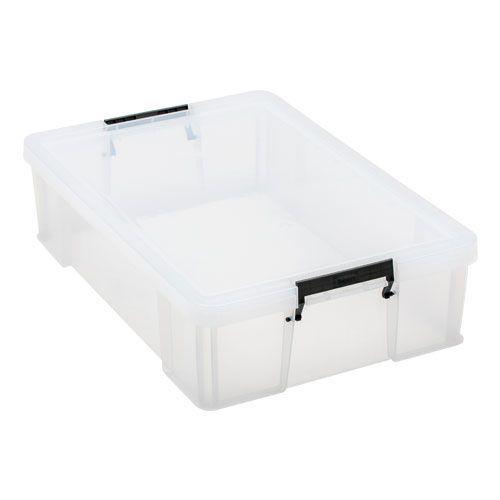 37ltr Allstore Box Clear Grey Handles 660h x 440w x 170d
