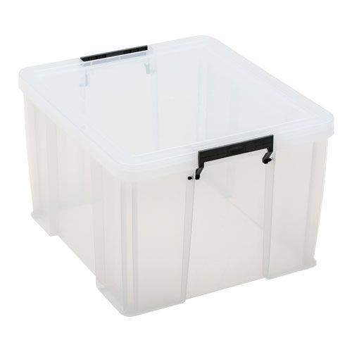 Clear 48 Litre Allstore Box - Grey Handles