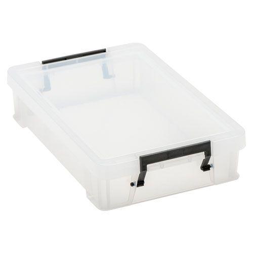 Manutan 5.5L Box Clear with Grey Handles