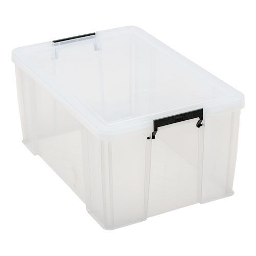 Clear 70 Litre Allstore Box - Grey Handles