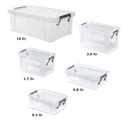 Allstore Five Box Set Offer 10ltr + 2.6ltr + 1.7ltr + 0.8ltr + 0.3ltr