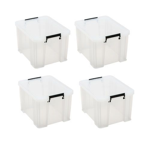 Manutan 36L Box Clear - Buy 3 get 1 FREE