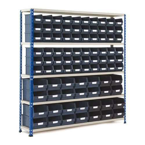 Rapid 2 Shelving Bay (1600h x 1525w) With 88 Picking Bins