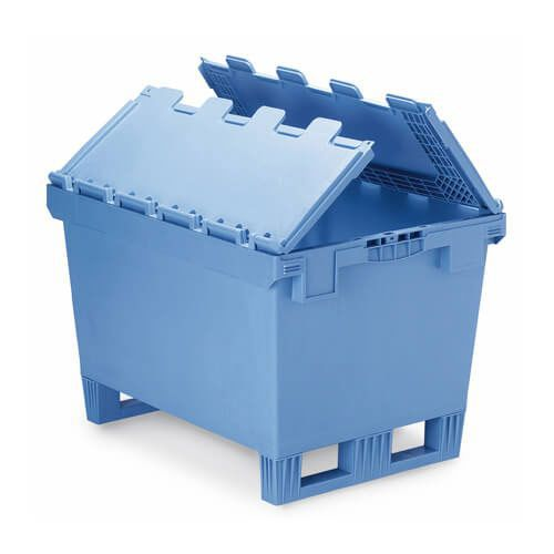 Attached Lid Fork Entry Industrial Containers
