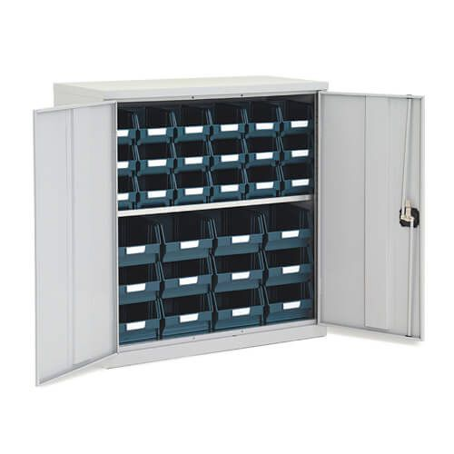Lockable Bin Cupboard complete - 30 Bins