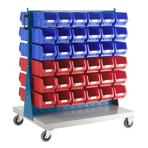 Double Sided Trolley (1200h x 1000w) With Bins