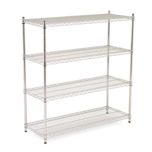 Chrome Wire Shelving - 4 shelves - 1600h x 915w