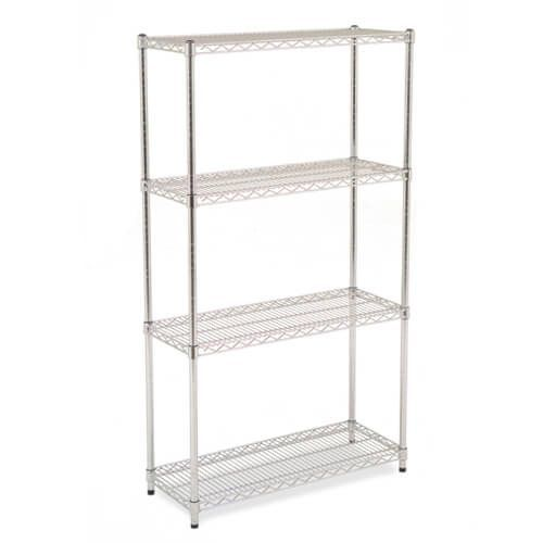 Chrome Wire Shelving - 4 shelves - 1880h x 1220w