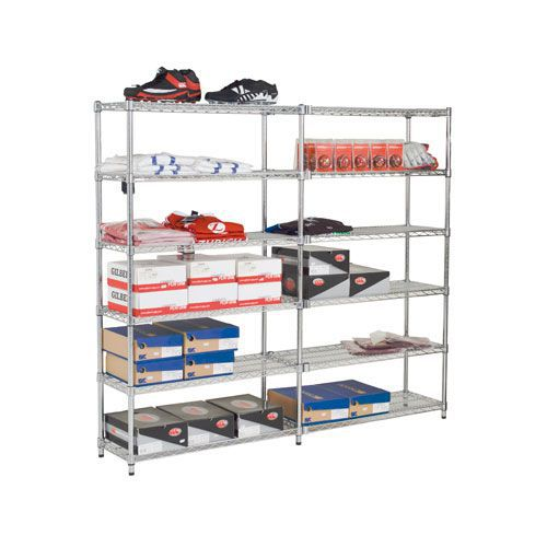 2 Chrome Shelving Bays complete - 6 Shelves