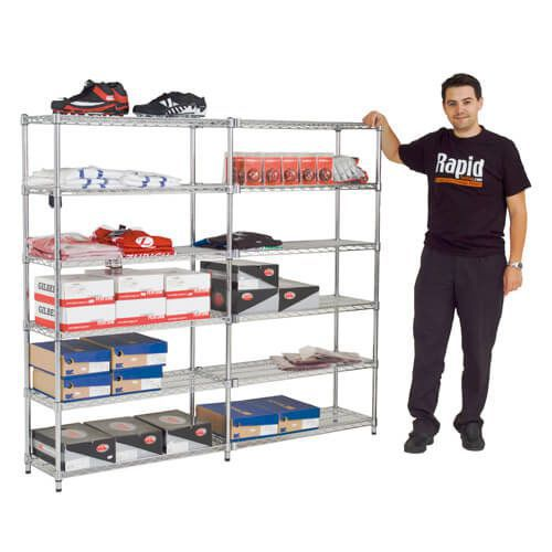 Pair of Additional Chrome Shelves (1830w)