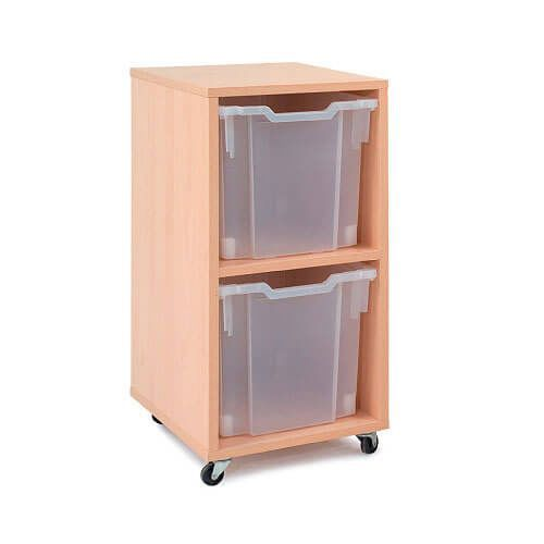 Mobile Melamine Storage Unit (754h x 350w) Complete With 2 Jumbo Gratnells Trays