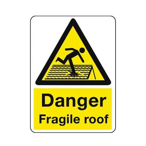 Danger Fragile Roof - Sign