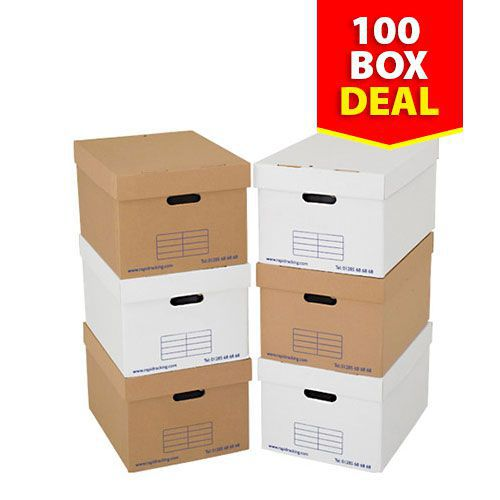 Archive Storage Boxes - Pack of 100