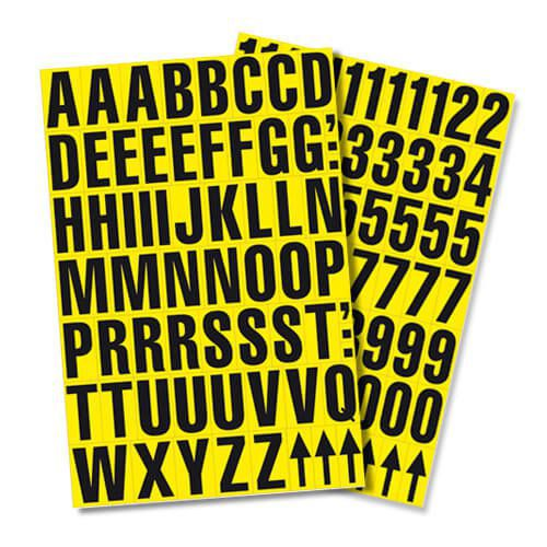 Self Adhesive Numbers - 9.5mm high