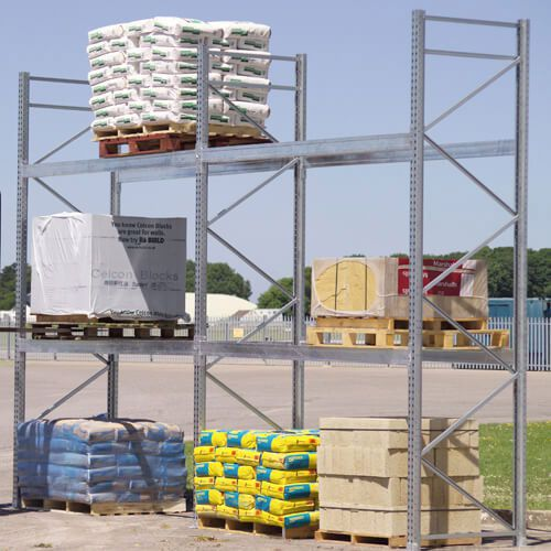 Galvanized Pallet Racking Frames