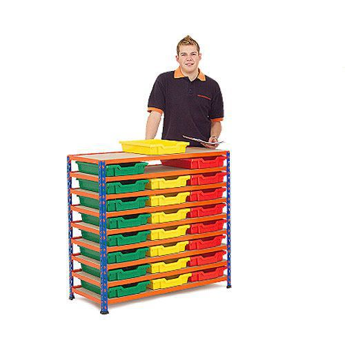 Rapid 2 (990h x 1020w) Shelving Bay With 24 Shallow Gratnells Trays
