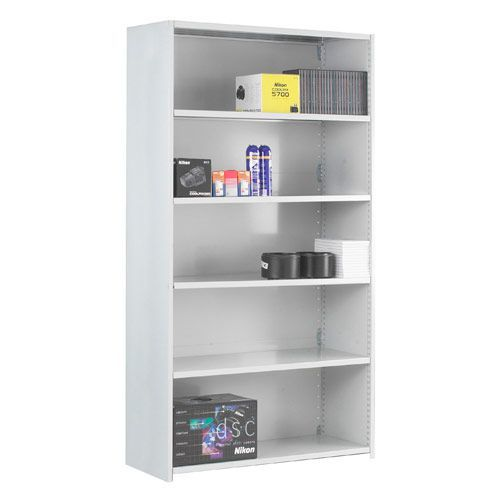 Stormor Solo Shelving Add-on Bays (1850h x 1250w) With Closed Back