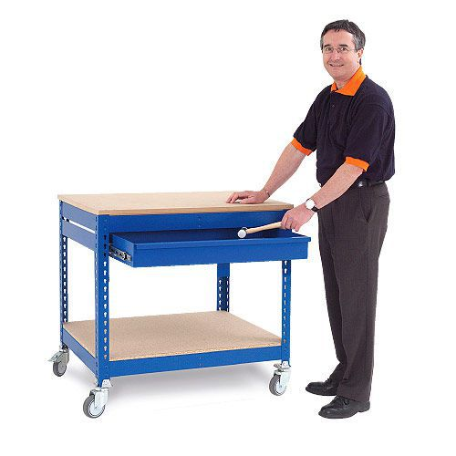 Rapid 1 Mobile Tool Station with Single Drawer- Blue