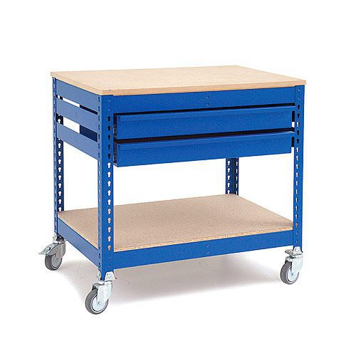 Rapid 1 Mobile Tool Station with Double Drawers- Blue