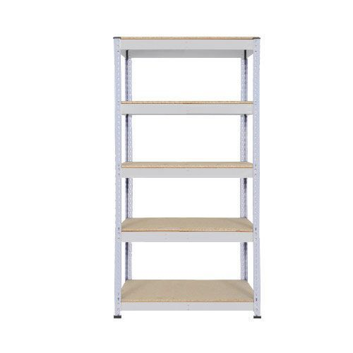 Rapid 1 Heavy Duty Shelving (1980h x 915w) Grey - 5 Chipboard Shelves