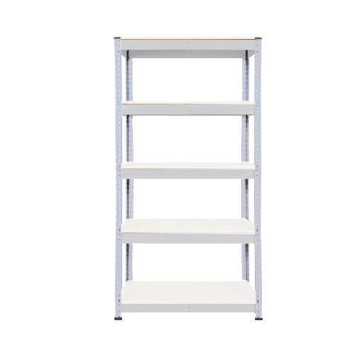 Rapid 1 Galvanized Shelving with 5 Melamine Shelves (1980h x 915w)