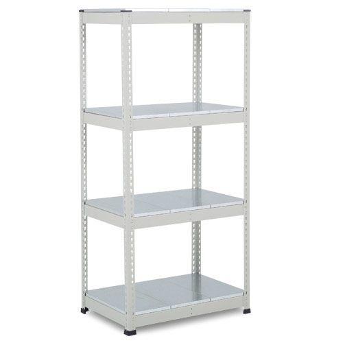 Rapid 1 Heavy Duty Shelving (1980h x 915w) Grey - 5 Galvanized Shelves