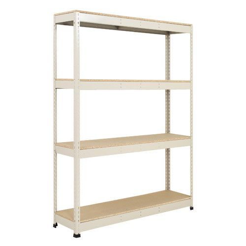 Rapid 1 Heavy Duty Shelving (1980h x 1220w) Grey - 4 Chipboard Shelves