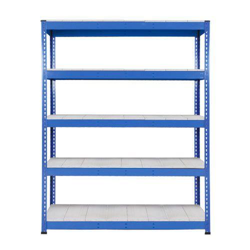 Rapid 1 Heavy Duty Shelving (1980h x 1525w) Blue - 5 Galvanized Shelves
