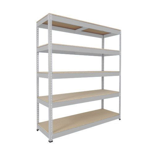 Rapid 1 Heavy Duty Shelving (1980h x 1830w) Grey - 5 Chipboard Shelves
