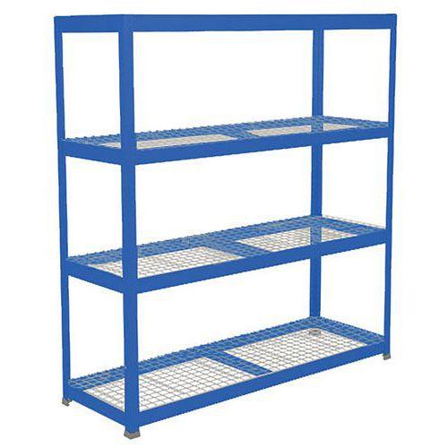 Rapid 1 Heavy Duty Shelving (1980h x 1830w) Blue - 4 Wire Mesh Shelves