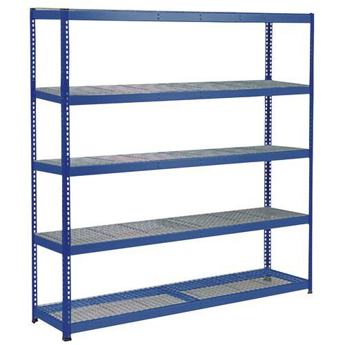 Rapid 1 Heavy Duty Shelving (1980h x 1830w) Blue - 5 Wire Mesh Shelves