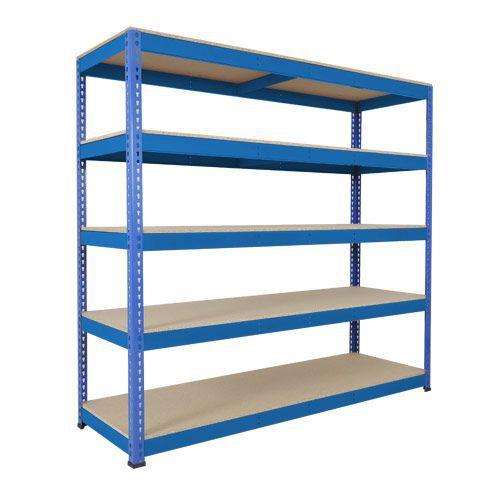 Rapid 1 Heavy Duty Shelving (1980h x 2134w) Blue - 5 Chipboard Shelves
