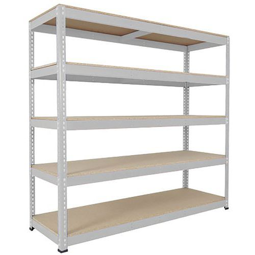 Rapid 1 Heavy Duty Galvanized Shelving with 5 Chipboard Shelves (1980h x 915w)