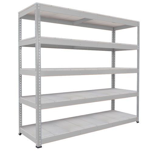 Rapid 1 Heavy Duty Shelving (1980h x 2134w) Grey - 5 Galvanized Shelves
