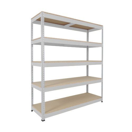 Rapid 1 Heavy Duty Shelving (1980h x 2440w) Grey - 5 Chipboard Shelves
