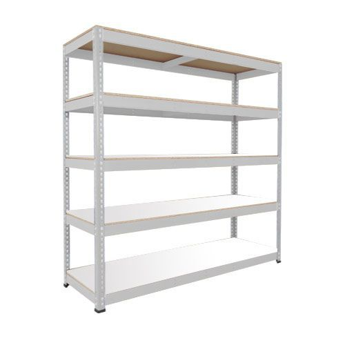 Rapid 1 Heavy Duty Shelving (1980h x 2440w) Grey - 5 Melamine Shelves