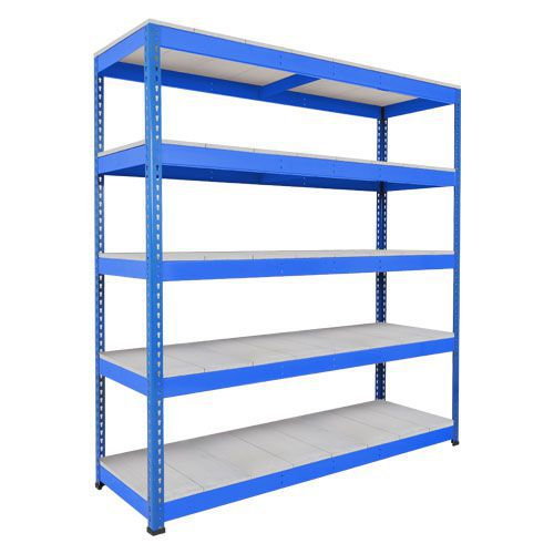 Rapid 1 Heavy Duty Shelving (1980h x 2440w) Blue - 5 Galvanized Shelves