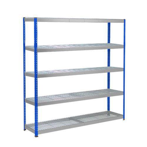 Rapid 1 Heavy Duty Shelving (1980h x 2440w) Blue & Grey - 5 Wire Mesh Shelves
