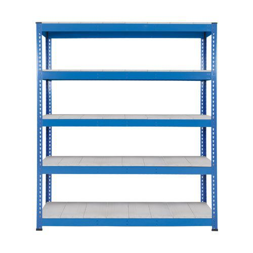 Rapid 1 Heavy Duty Shelving (2440h x 1830w) Blue - 5 Galvanized Shelves