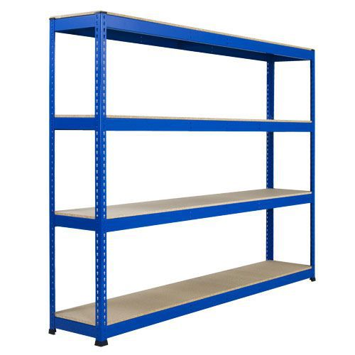 Rapid 1 Heavy Duty Shelving (2440h x 2134w) Blue - 4 Chipboard Shelves