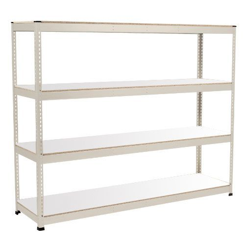 Rapid 1 Heavy Duty Shelving (2440h x 2134w) Grey - 4 Melamine Shelves