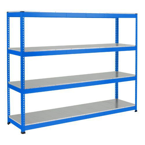 Rapid 1 Heavy Duty Shelving (2440h x 2134w) Blue - 4 Galvanized Shelves