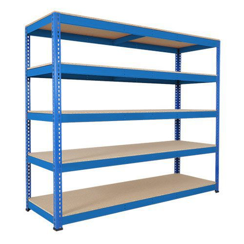 Rapid 1 Heavy Duty Shelving (2440h x 2134w) Blue - 5 Chipboard Shelves