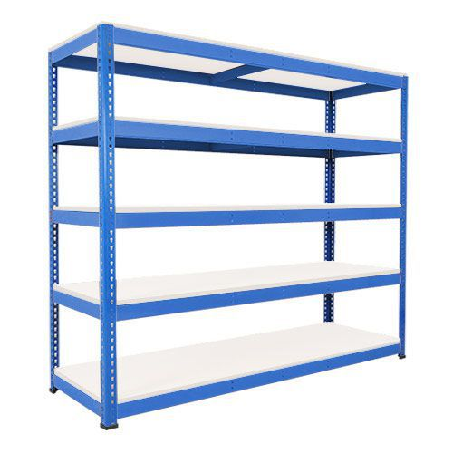 Rapid 1 Heavy Duty Shelving (2440h x 2440w) Blue - 5 Melamine Shelves