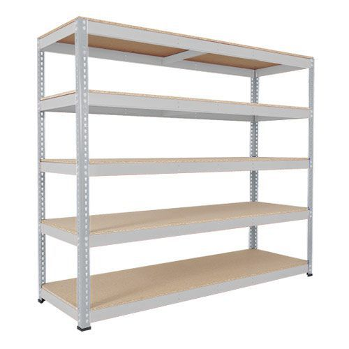 Rapid 1 Galvanized Shelving with 5 Chipboard Shelves (1980h x 1525w)