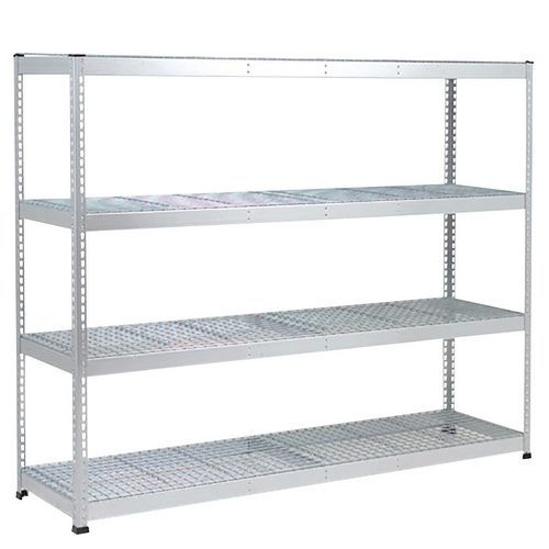 Rapid 1 Heavy Duty Shelving (1980h x 1830w) Galvanized - 4 Wire Mesh Shelves