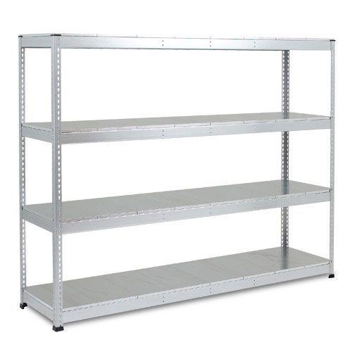 Rapid 1 Heavy Duty Shelving (1980h x 2440w) Galvanized - 4 Galvanized Shelves